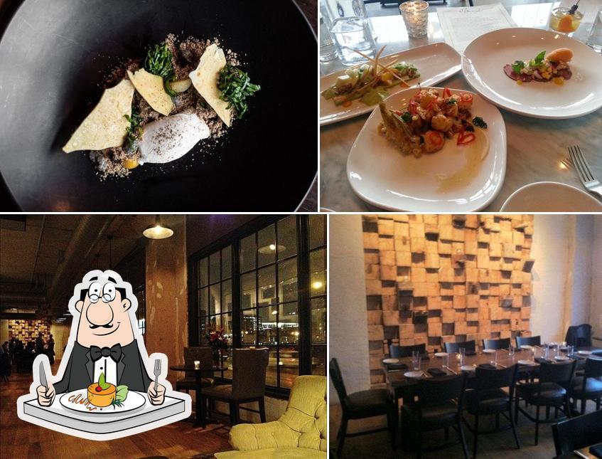 Take a look at the image showing food and interior at Borough