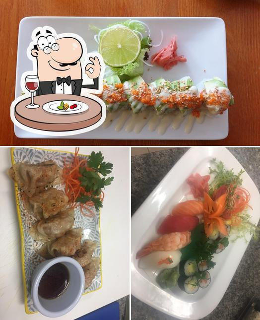 Meals at Honkaku Sushi & Thai Restaurant