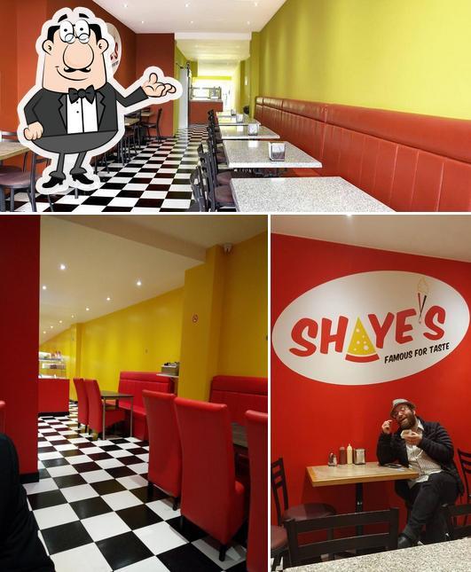 The interior of Shaye's