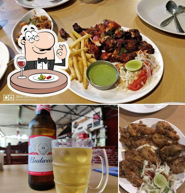 The photo of food and beer at Fisherman's