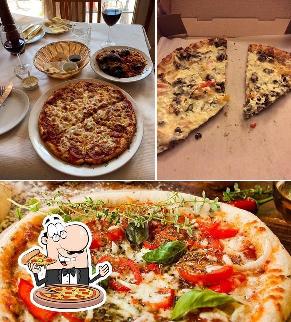 Pick pizza at La Grotta Pizzeria