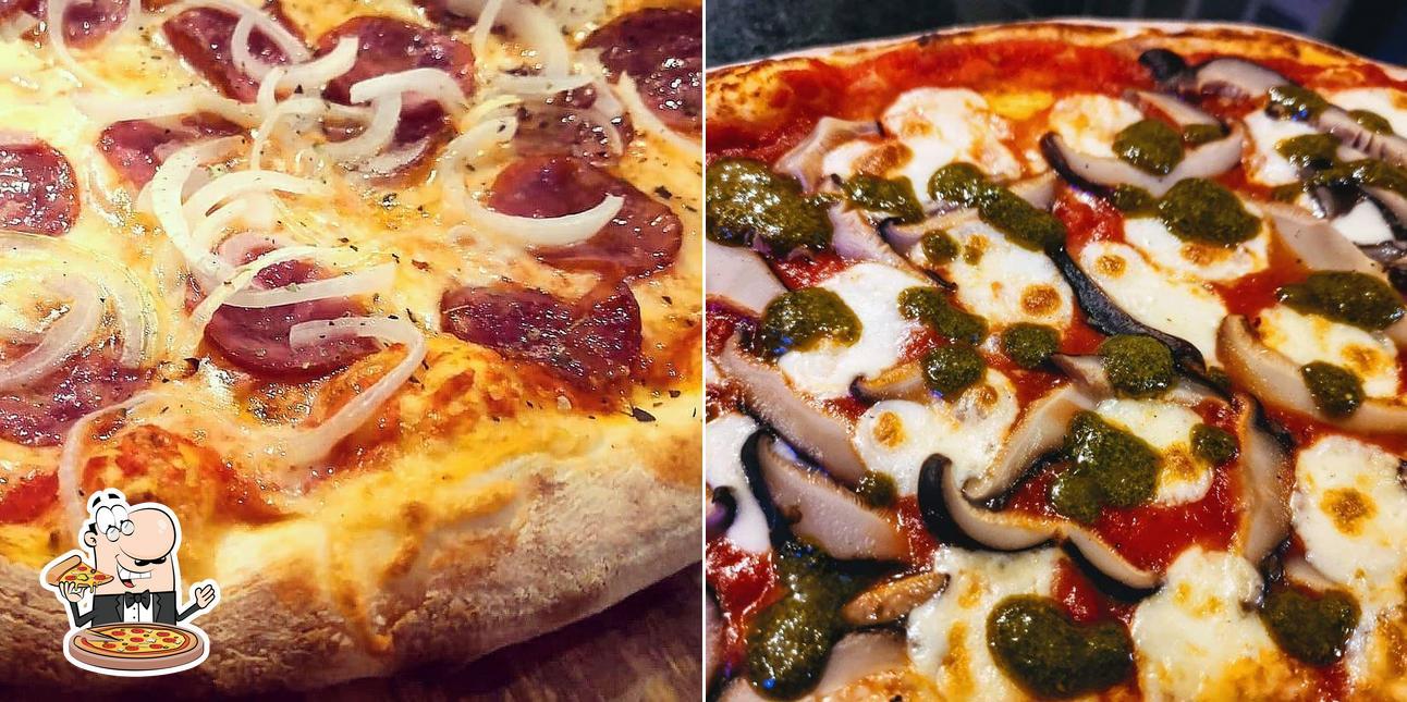 No La Pizzateca, você pode desfrutar de pizza