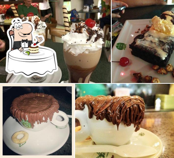 Santa Clara Cafe oferece uma escolha de pratos doces