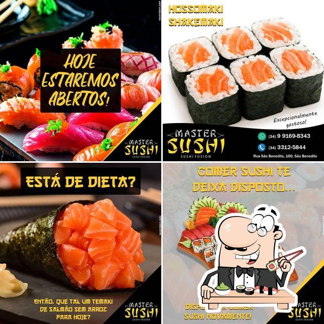 Peça diversas opções de sushi