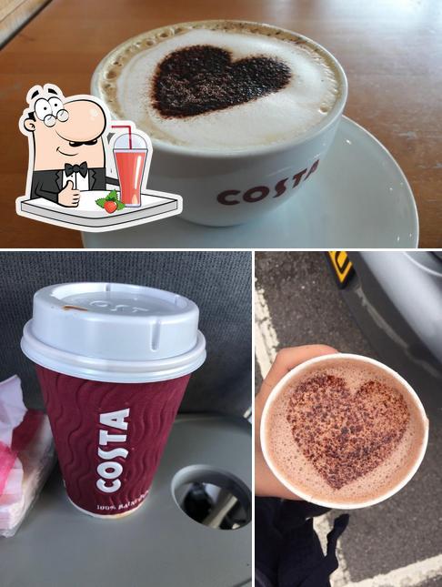 Enjoy a beverage at Costa