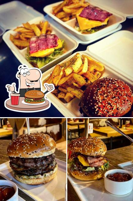 Try out a burger at Red Angus Steakhouse