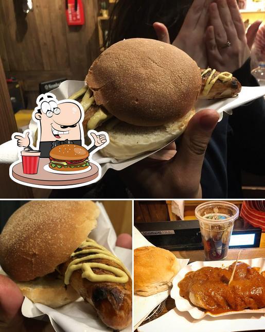Order a burger at World Of Wurst