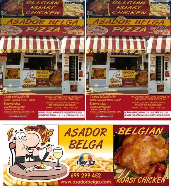 Food at Asador Belga