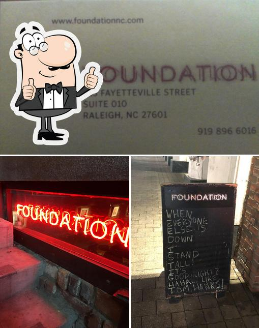 Here's a photo of FOUNDATION