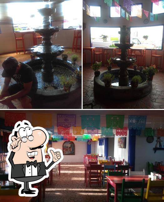 The interior of La Choza