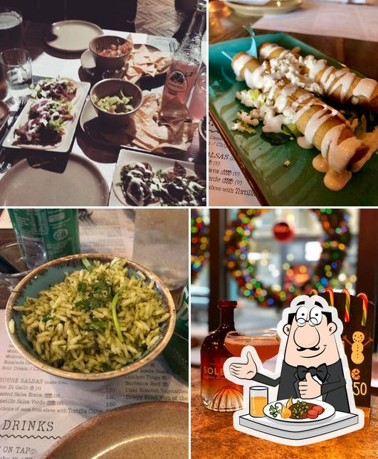 This is the picture showing food and drink at Topolabamba