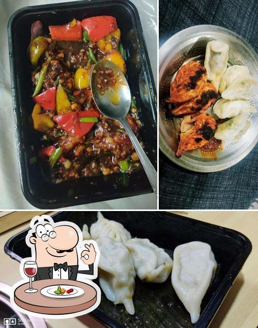 Food at Dimsum Momo Express