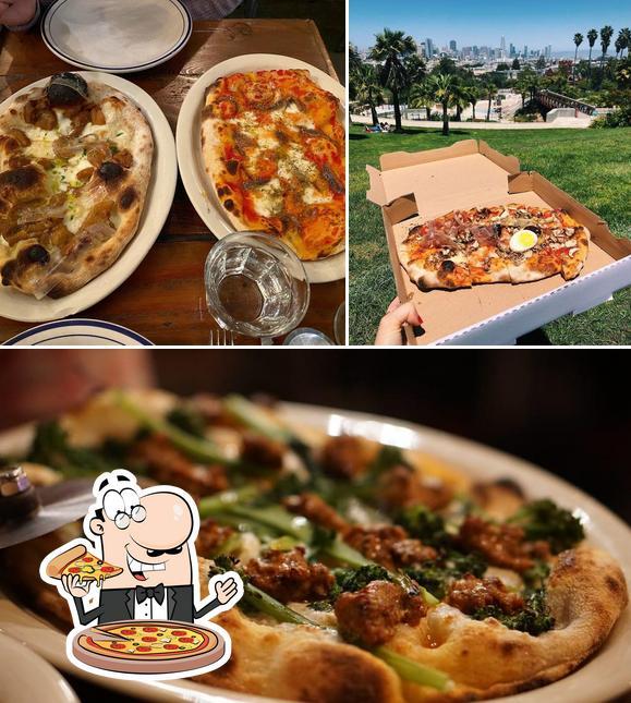 Order pizza at Montesacro San Francisco