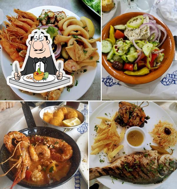 Food at Taverna Ouzaki
