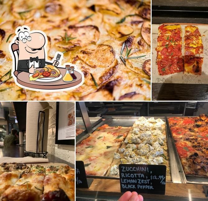 Get pizza at Bonci