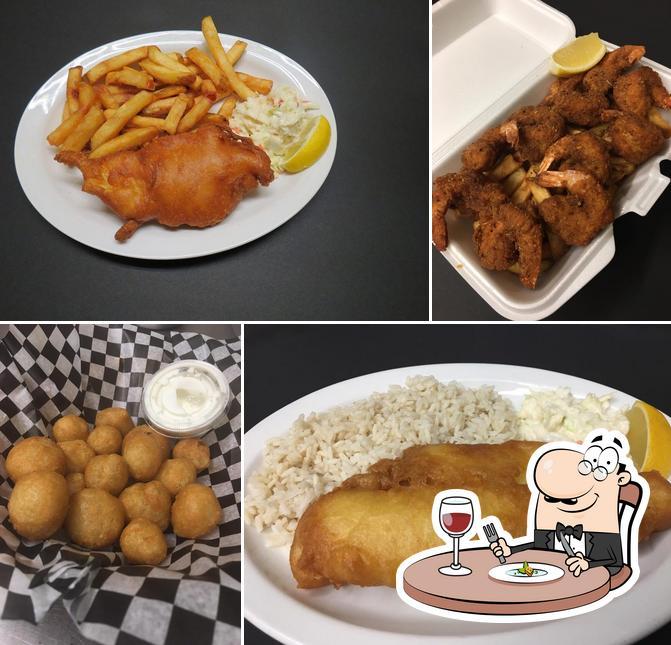Food at Captain Jack's Restaurant