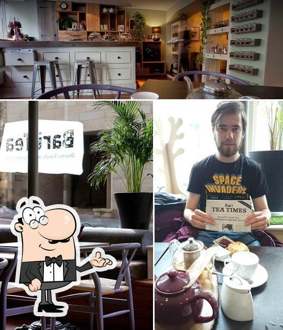 The interior of Bari Tea