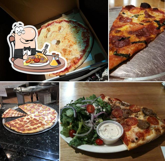 Pick pizza at Live From New York Pizza