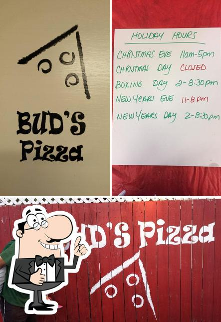 Look at this picture of Bud's Family Pizza