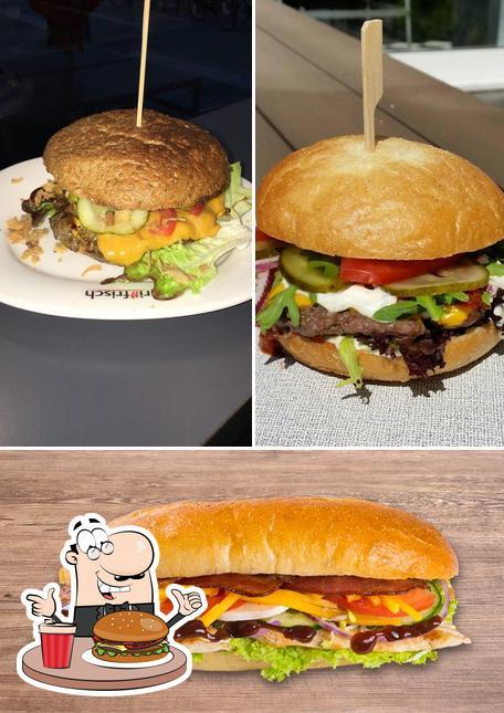 Holt einen Burger bei Grillfrisch