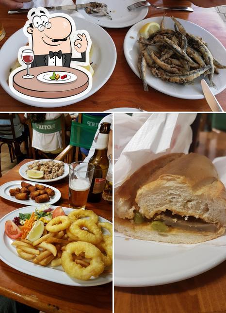 Mira las fotografías que hay de comida y interior en Tritón