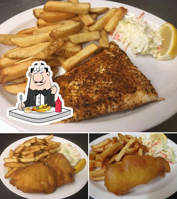 Try out French fries at Captain Jack's Restaurant