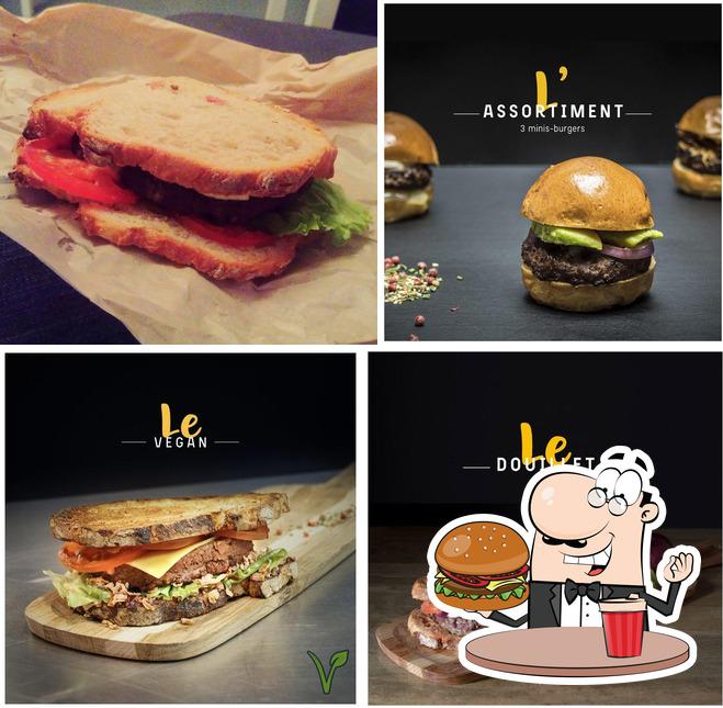 Prenez un hamburger à Le Zinc à Burger