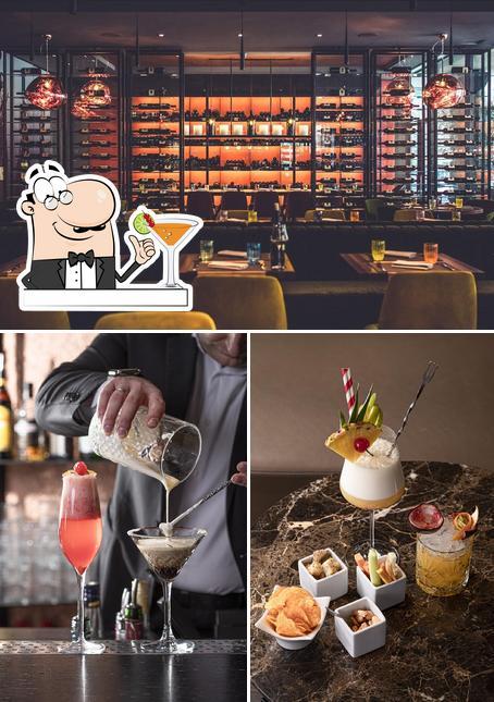 Die getränk und lebensmittel des Restaurants