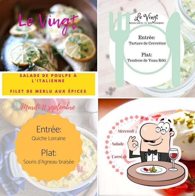 Nourriture à LE VINGT - le 20 restaurant du Golf de Bossey