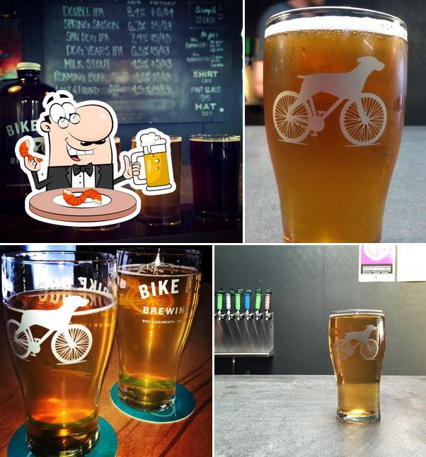 Bike Dog offers a range of beers