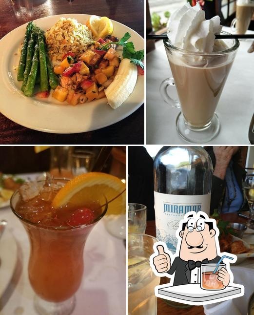 The restaurant's drink and food
