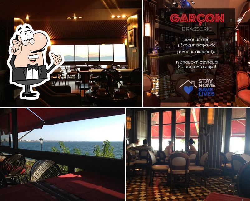 The interior of Garçon Brasserie