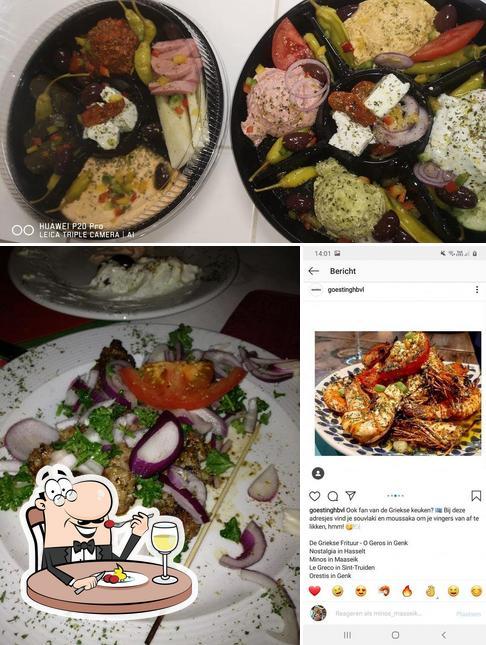 Essen im Minos bij Ward en Eleni