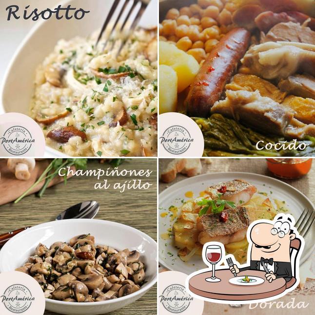 Comida en Port América Restaurante Cafetería