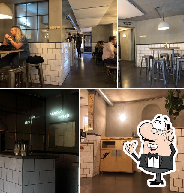 The interior of Fiskerestaurant Hooked Kødbyen