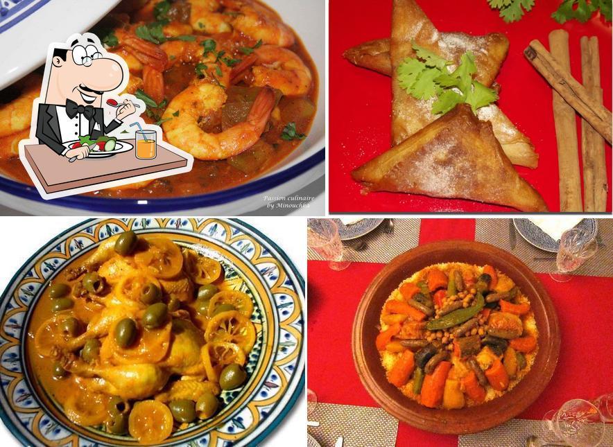 Platos en Restaurante La Paloma Blanca