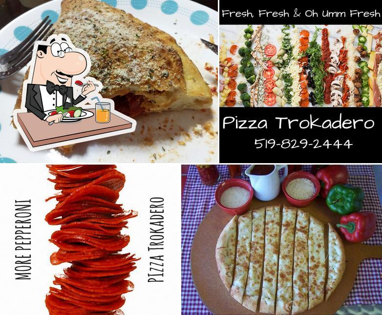 Food at Pizza Trokadero