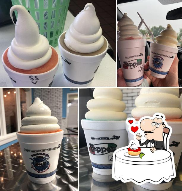 Zeppe's Italian Ice serves a variety of sweet dishes