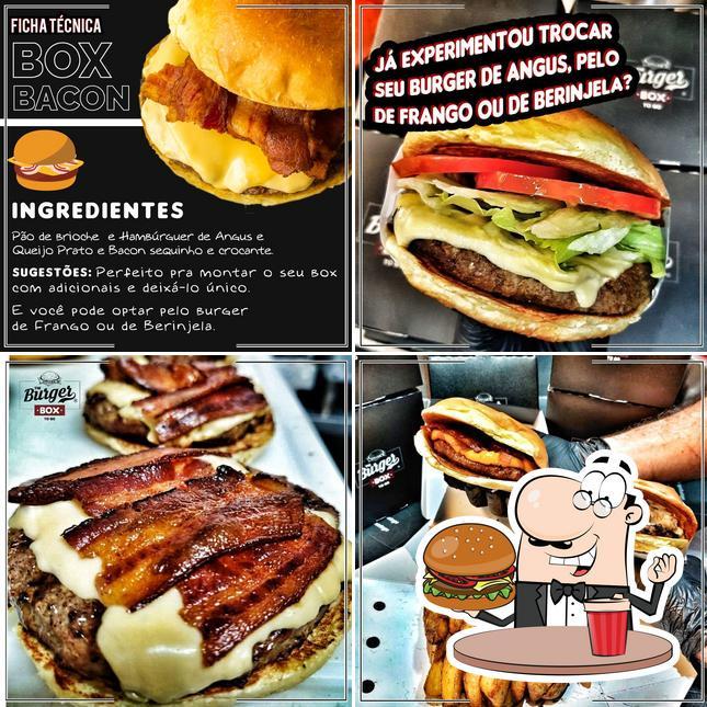 Peça um hambúrguer no The Burger Box