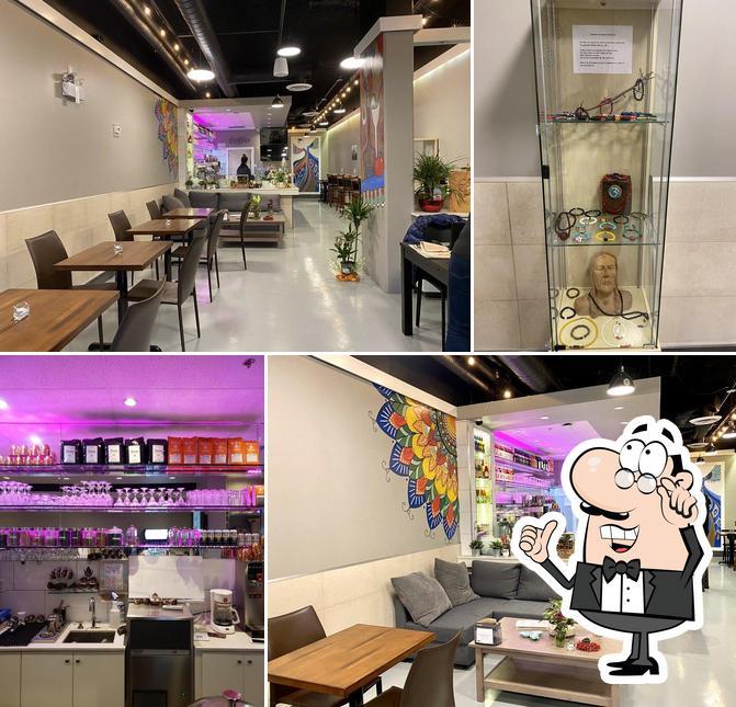 The interior of Brisk Cafe