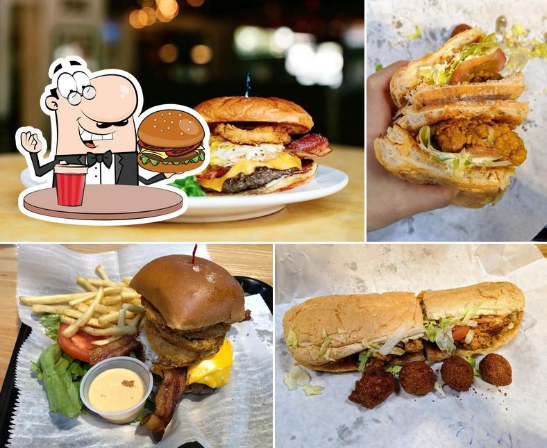 Order a burger at Marietta Square Market
