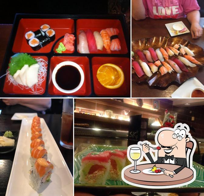 Food at Sake Hibachi Sushi & Bar