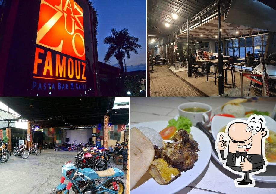 Here's an image of Famouz Cafe