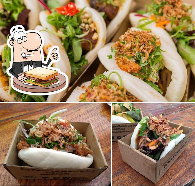 Grab a sandwich at What The Bao