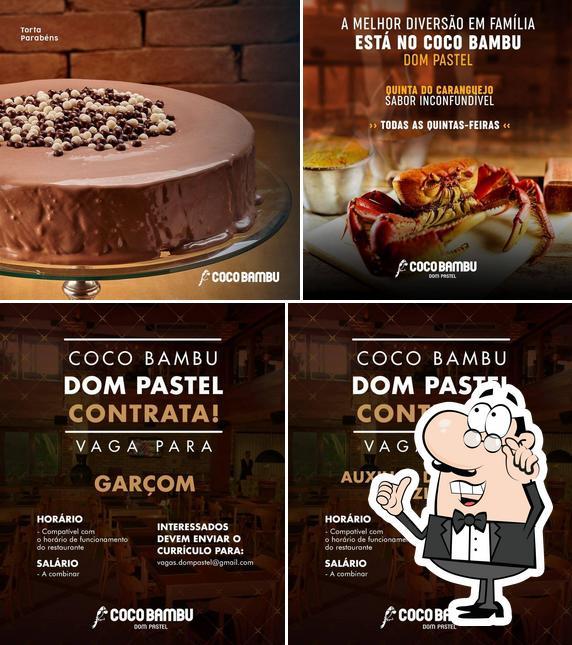 Это фото, где изображены внутреннее оформление и еда в Coco Bambu - Dom Pastel