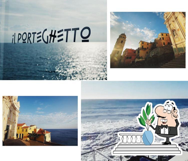 Genießt die Aussicht im Außenbereich von Porteghetto