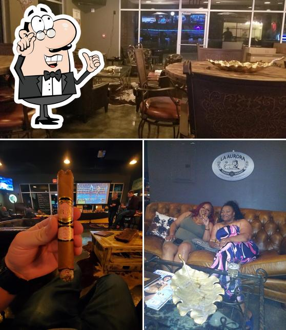 The interior of Gold Leaf Cigar Lounge