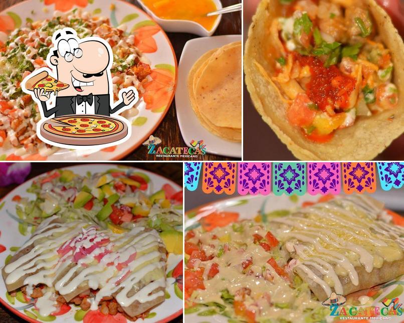 Pick pizza at Zacatecas Restaurante Mexicano