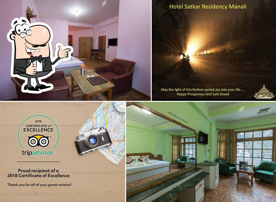 Here's a picture of Hotel Satkar Residency Manali