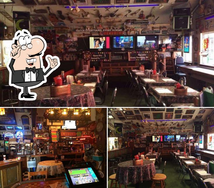 The interior of Cameron's Pub & Restaurant